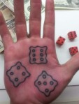 C-Low Dice Palm Tattoo