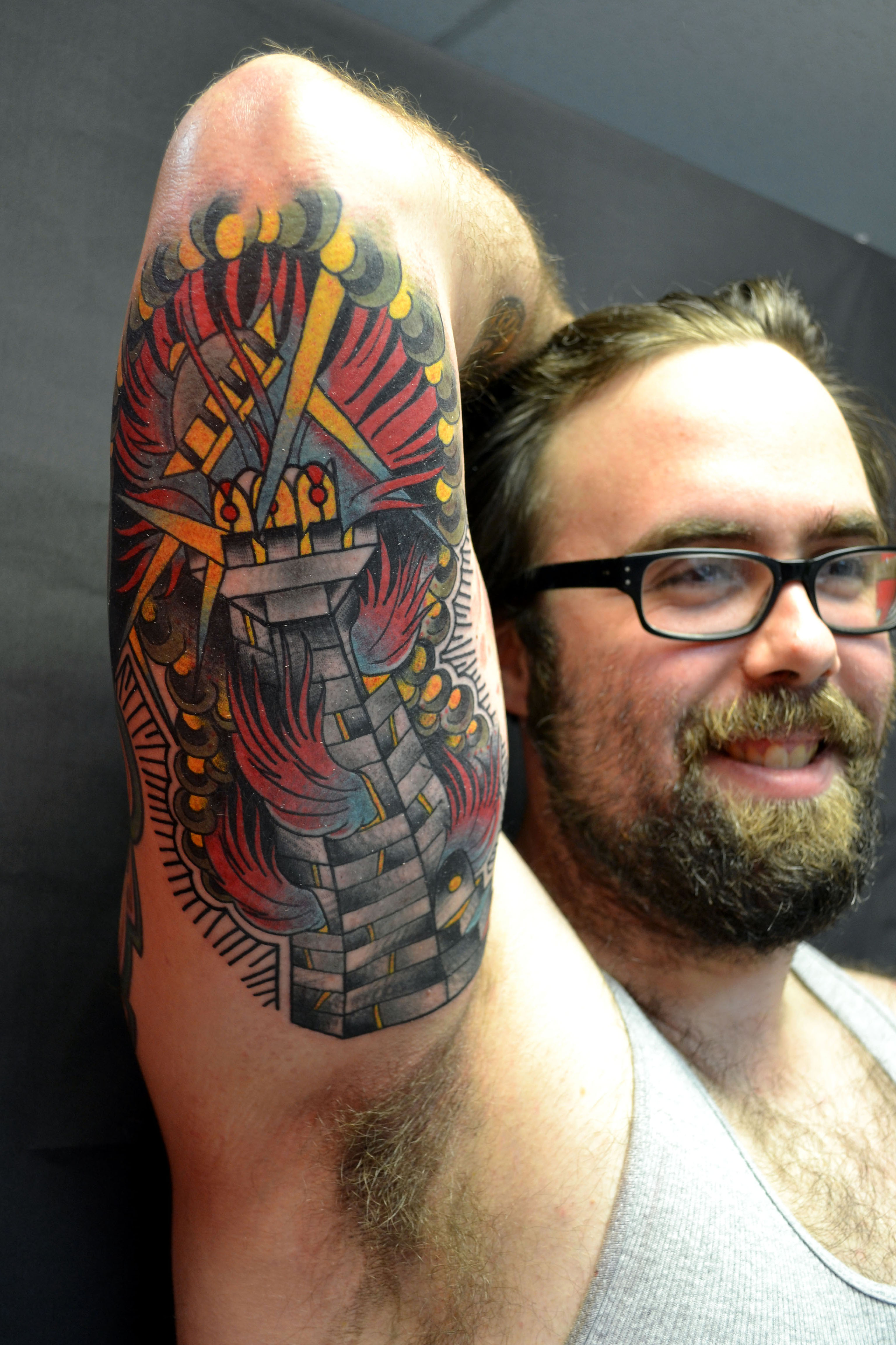 Lighthouse Tattoo   RAYMOND WALLACE TATTOOING: flawlesswallace.com/tattoos/tower-tattoo-done-2