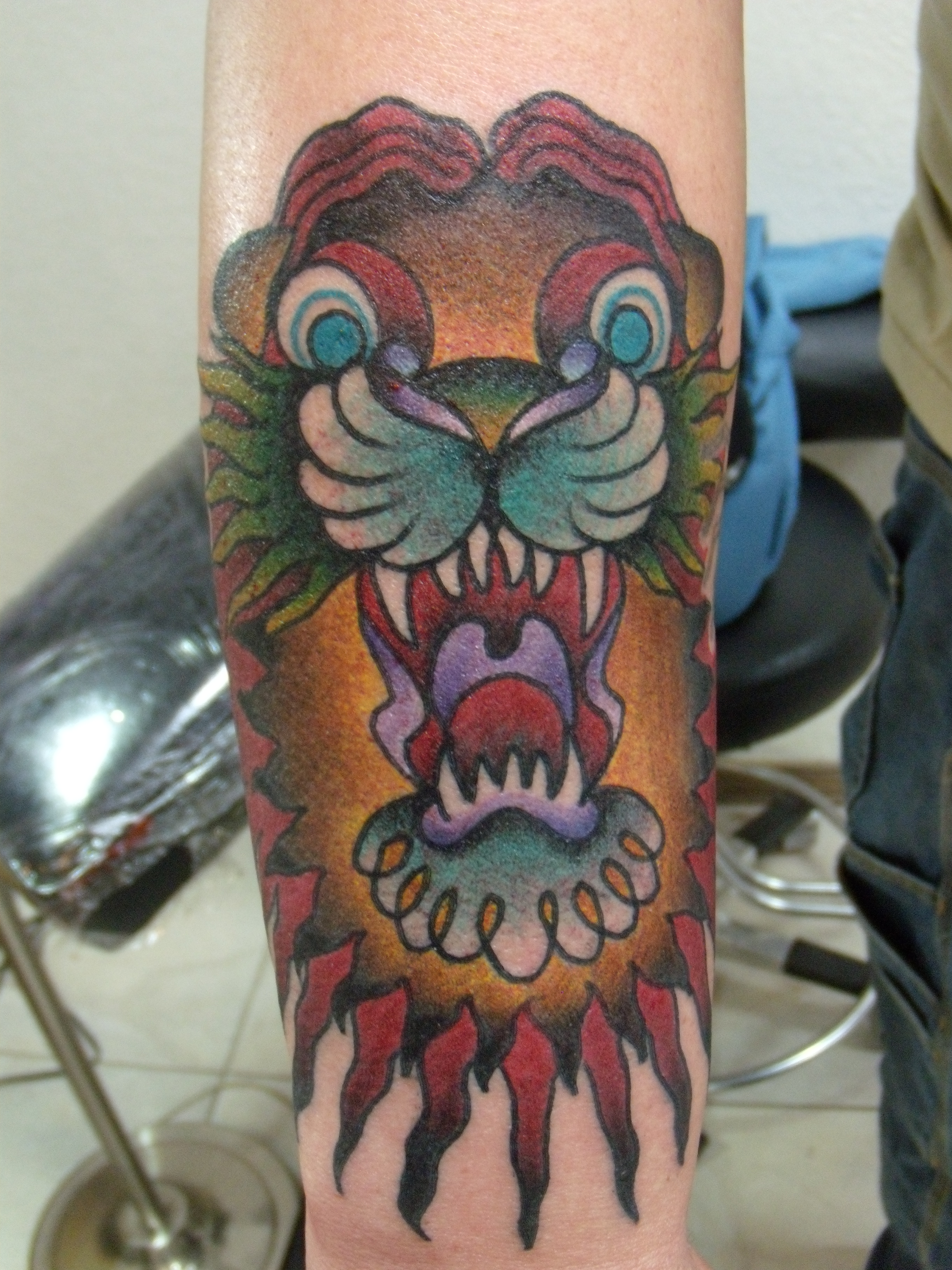 Traditional Lion Tattoo