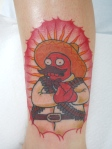 Mexican Zoidberg Traditional Tattoo
