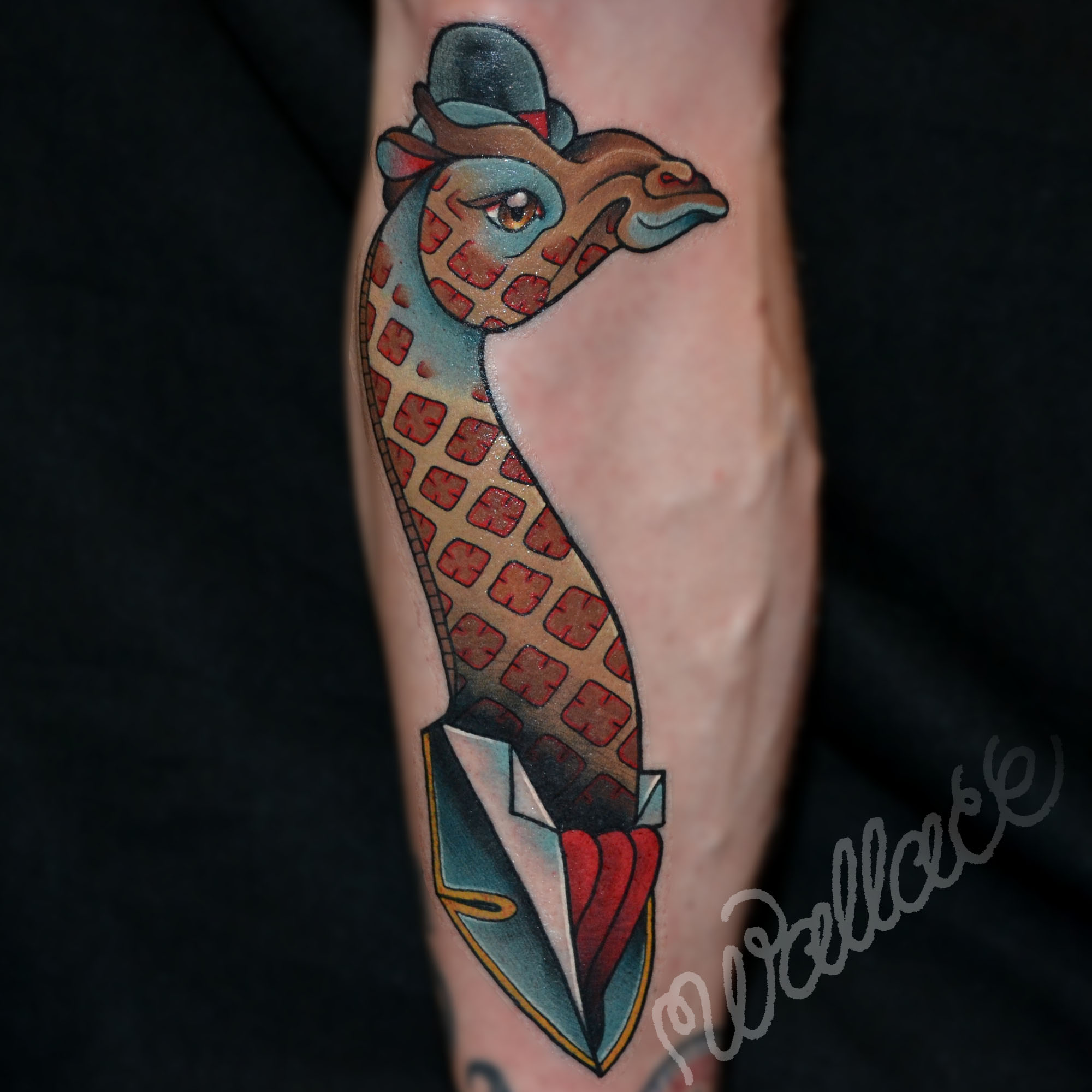 Giraffe Tattoo RAYMOND WALLACE TATTOOING