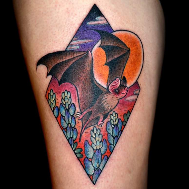Mexican Free Tail Bat Tattoo
