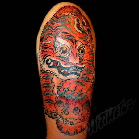 Mahasattva's Tigress Tattoo