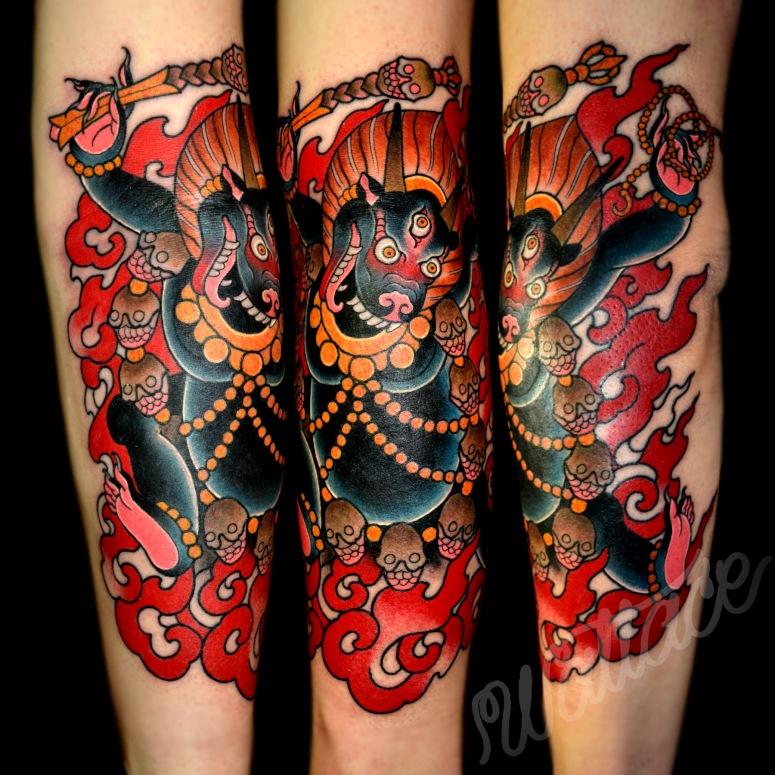 Yama Dharmaraja Tattoo