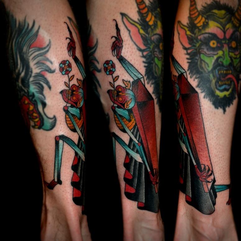 z Grim Reaper Flash Tattoo