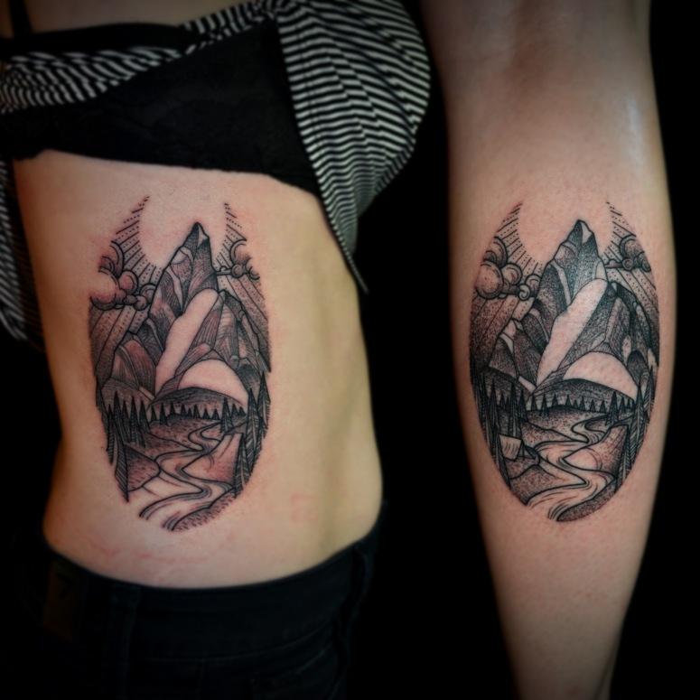 Z Line mountain tattoos